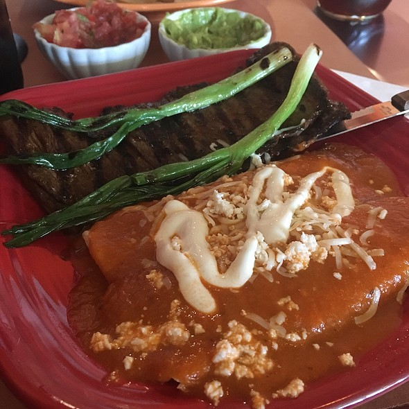 Carne Asada And Queso Enchilads