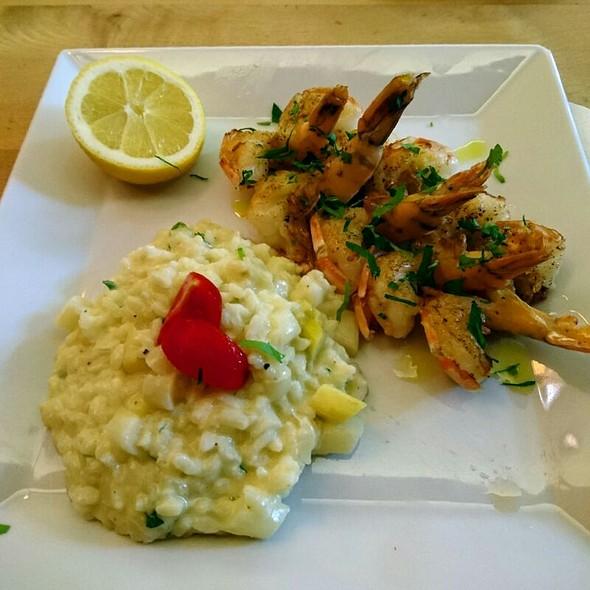 gebratene Shrimps mit Spargelrisotto  @ Vini e. Panini