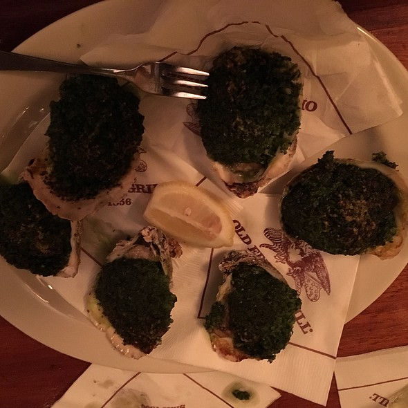 Oysters Rockefeller (Blue Point oysters)