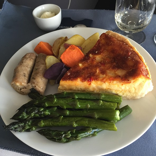 Rustic Quiche @ United Airlines