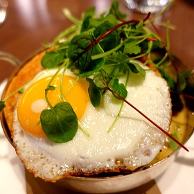 Chicken Pot Pie With Sunny Side Up Egg And Frise