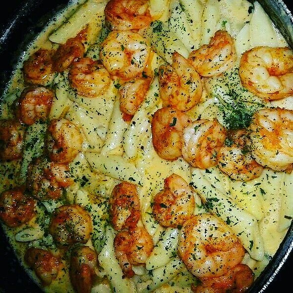 Shrimp Alfredo And Sweet And Spicy Grilled Shrimp