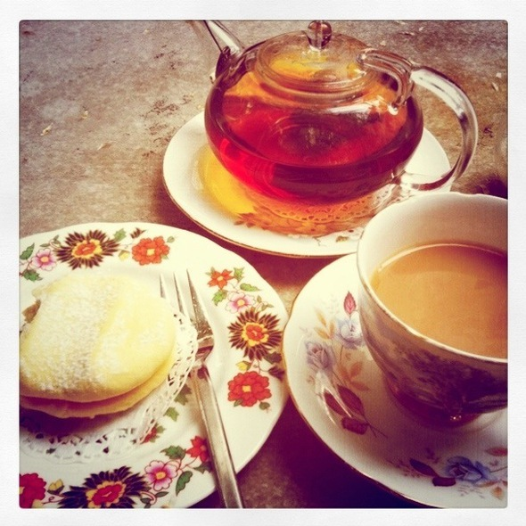 Melting Moment With A Pot Of English Breakfast Tea