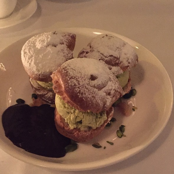 Profiteroles With Pistachio Ice Cream @ Cecconi's