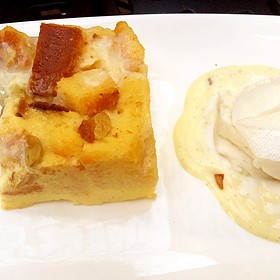 White Chocolate Bread Pudding