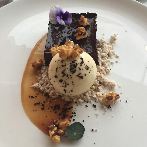 Brownie With Popcorn Icecream @ Amuse Wine Bar