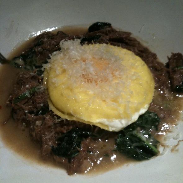 Egg Yolk And Goat Cheese Ravioli With Lamb Ragu @ ABC Kitchen