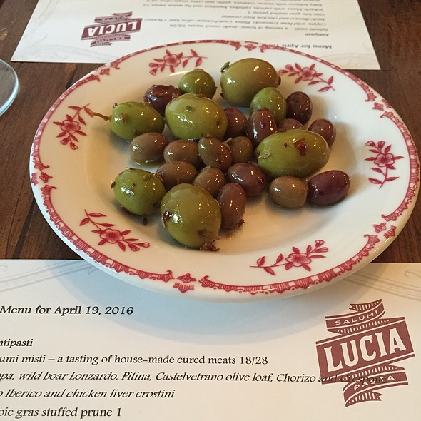 Warm Olives And Fennel Seeds @ Lucia