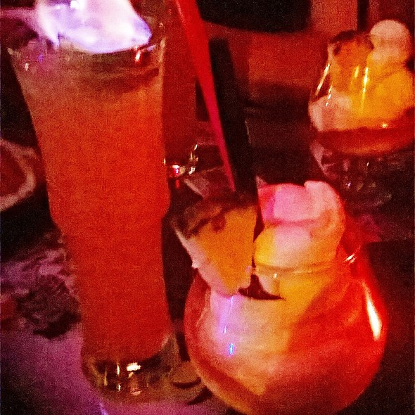 Flaming Cocktails @ The Golden Tiki