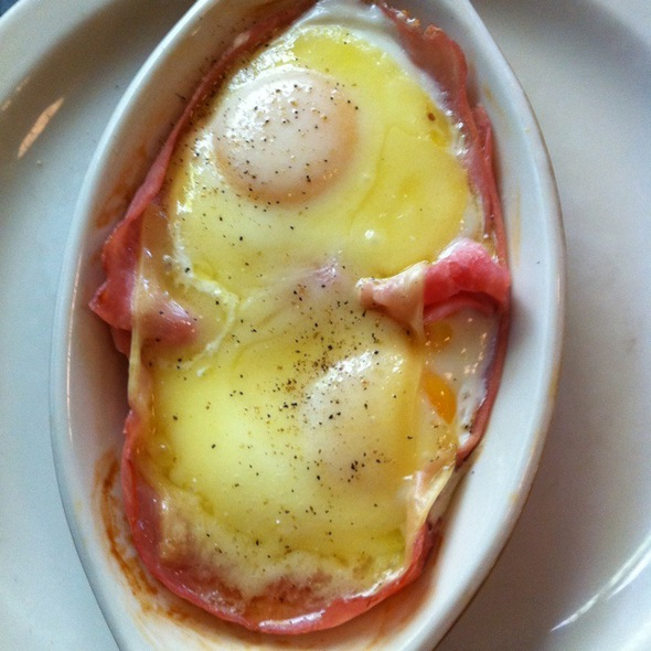 Baked Eggs With Ham And Gruyere @ Le Pichet