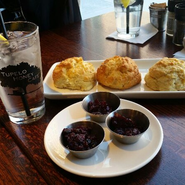 Biscuits With Blackberry Jam And Honey