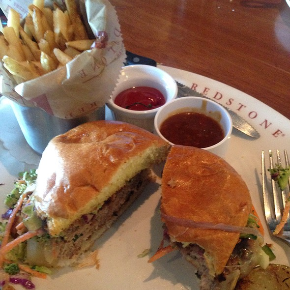 General Tso's Turkey Burger And Fries @ Redstone  American Grill