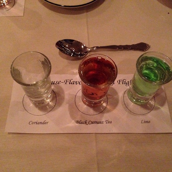 Flight Of House Vodkas @ Russian Tea Time Restaurant