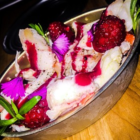 King Crab W/Raspberries