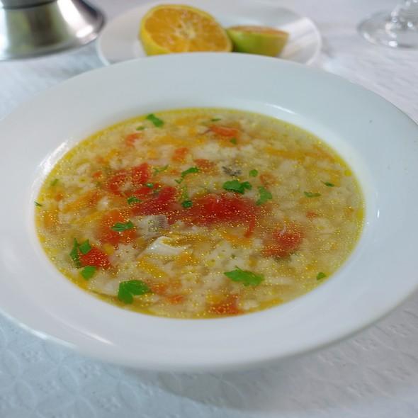 Fish Soup Plated Individually @ Restaurante Cantinho Do Cais