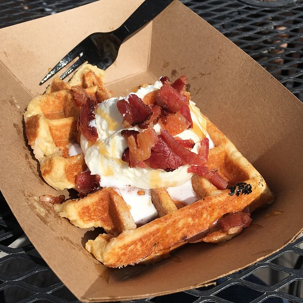 Pig On A Cloud Waffle @ Bruges Waffles and Frites
