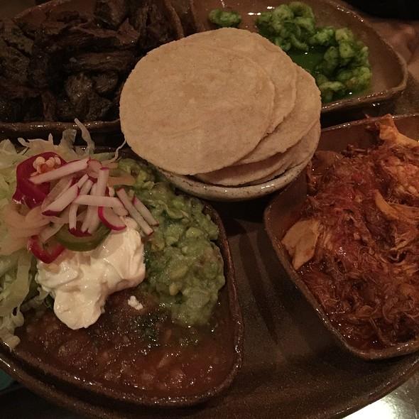 Soft Tacos W Chicken Shrimp Steak Guacamole Salsa Lettuce & Tortillas - Calle Ocho, New York, NY