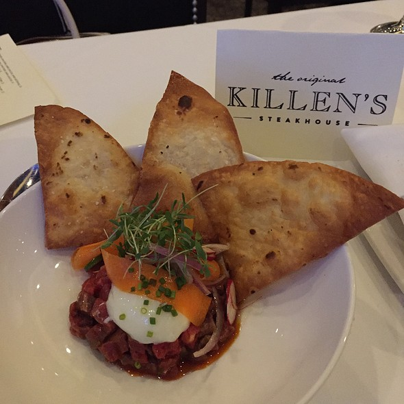 Chorizo Steak Tartare - Killen's Steakhouse, Pearland, TX