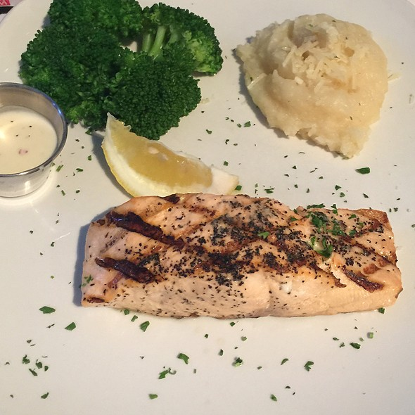 Grilled Atlantic Salmon - Oyster Bay Seafood and Wine Bar, Las Vegas, NV