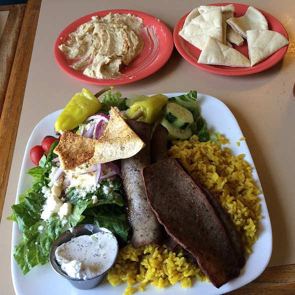 Gyro Platter With Salad @ Pitas