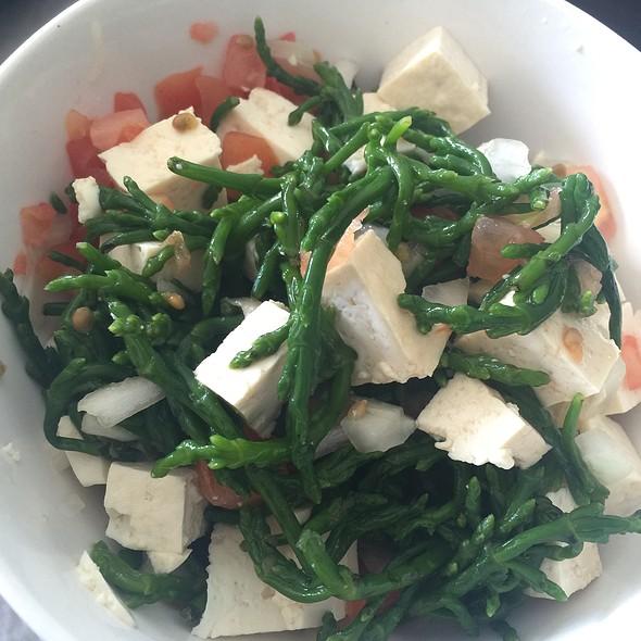 Tomato and Sea Asparagus Salad @ Home