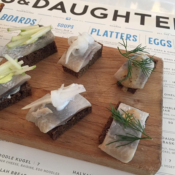 Pickled Herring Trio @ Russ & Daughters Cafe