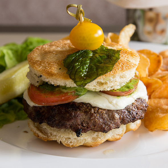 Caprese Burger - Glenmorgan Bar & Grill at the Radnor Hotel, St. Davids, PA