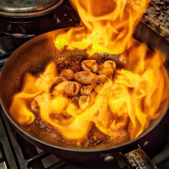Calamares Flambé @ Dharma's Kitchen