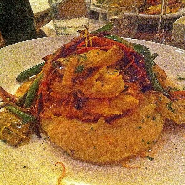 Grilled Chicken And Veggies Over Creamy Polenta - Biscottis, Jacksonville, FL