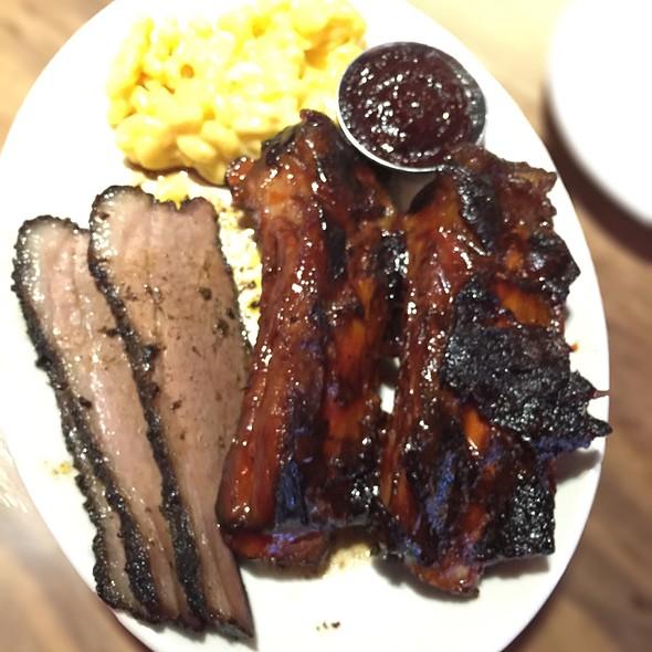 Bbq Combo- Brisket, Beef Ribs, Mac & Cheese @ Wood Ranch Bbq & Grill