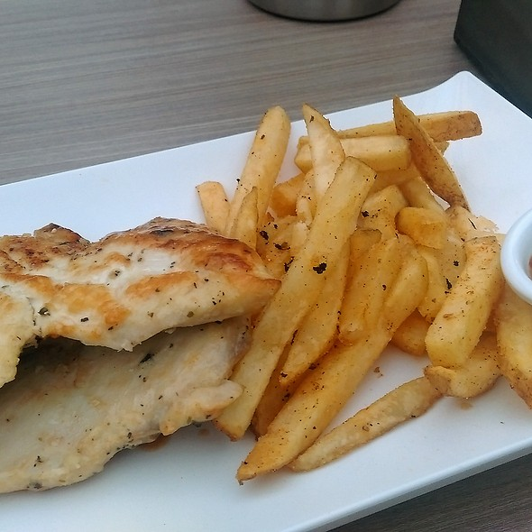 Mixed Herb Chicken Fillet & Chips @ Flames Charcoal Chicken