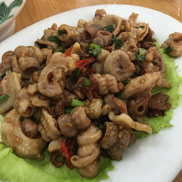 Stir Fried Pork Intestine With Dry Shrimp @ Restaurant Choy Hi