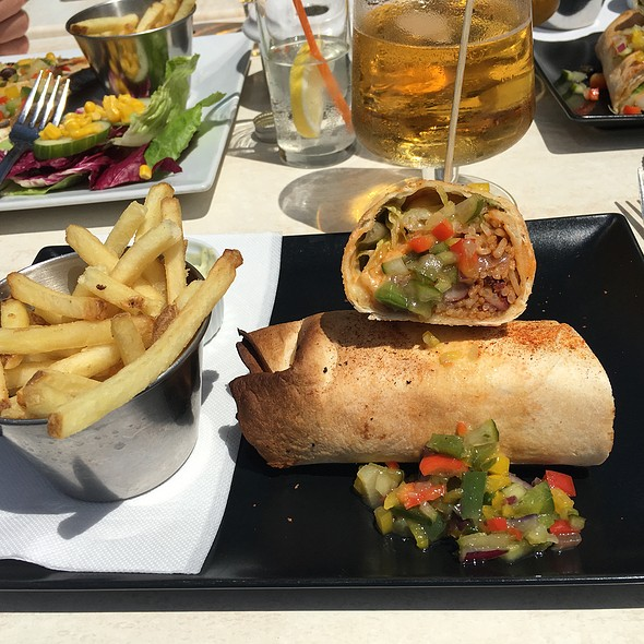 Shrimp Jambalaya Burrito @ Bridge Bar And Grill