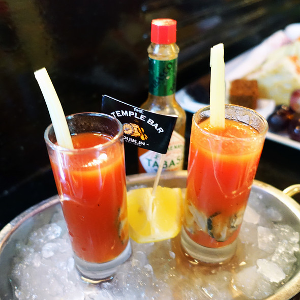 Bloody Mary Oyster Shots @ The Temple Bar Pub