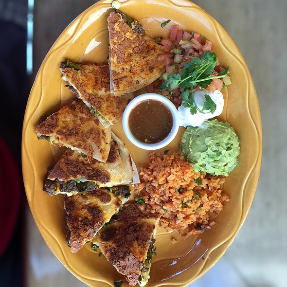 Chile-Rubbed Skirt Steak Quesadilla @ Pacific Coast Grill