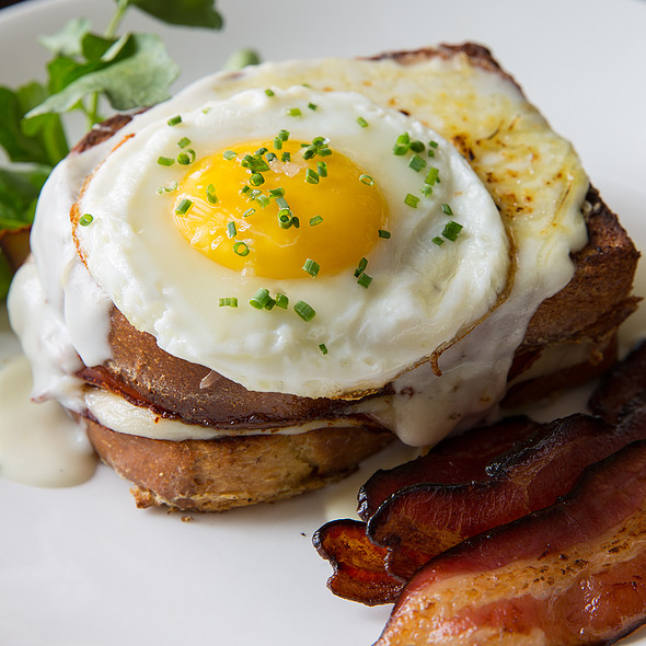 French Toast Croque Madame @ Paramour at Wayne Hotel