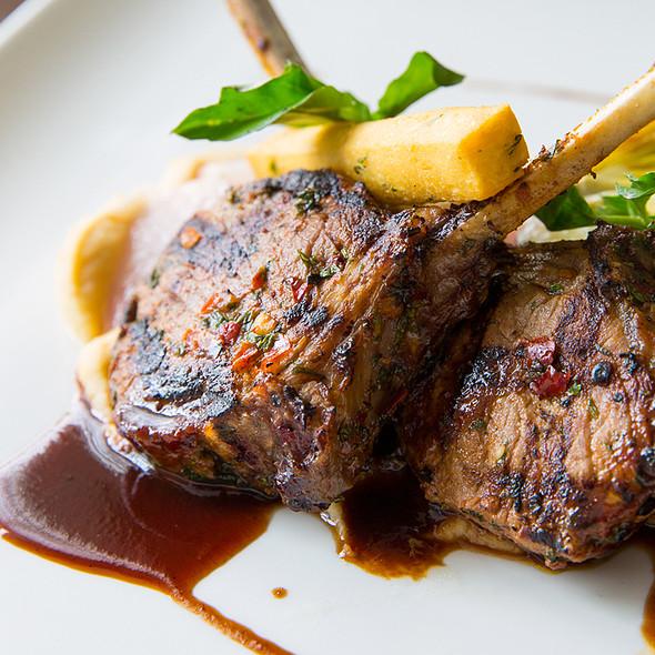 Spring Garlic & Harissa Rubbed Lamb Chops @ Paramour at Wayne Hotel