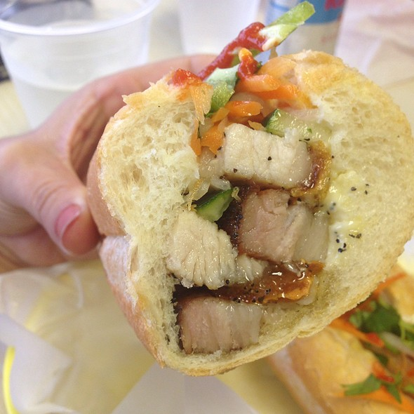 Crispy Pork Sandwich @ Spring Roll Express