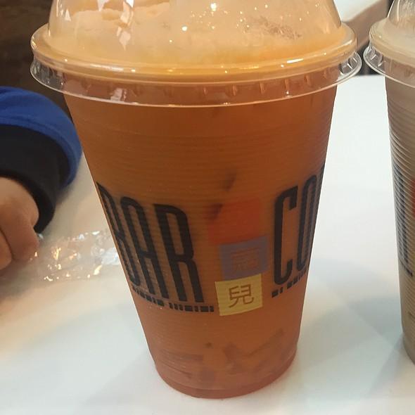 Thai Iced Tea With Lychee Jelly @ Bar Code
