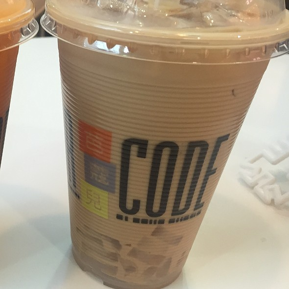 Black Milk Tea With Lychee Jelly @ Bar Code