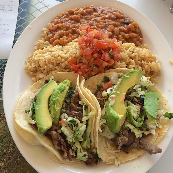 Carne Asada Avo Tacos @ Wahoo's Fish Taco