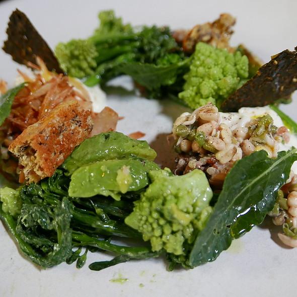 brassicas and grains, burrata, avocado, green goddess and sonoma olio nuevo @ SPQR
