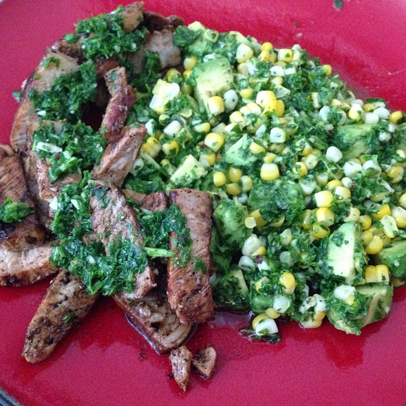 Pork Chops With Chimmichurri @ Home