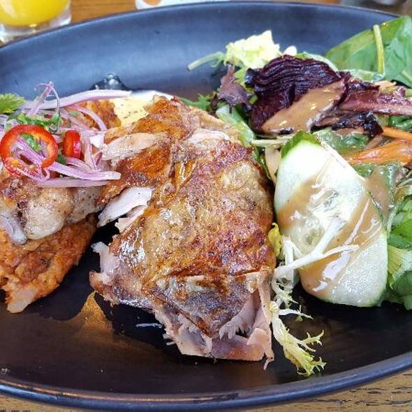 1/4 Chicken & Tacu Tacu & Salad