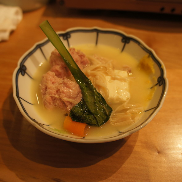 Chicken Meatballs Made Table Side @ Toriden とり田 博多本店