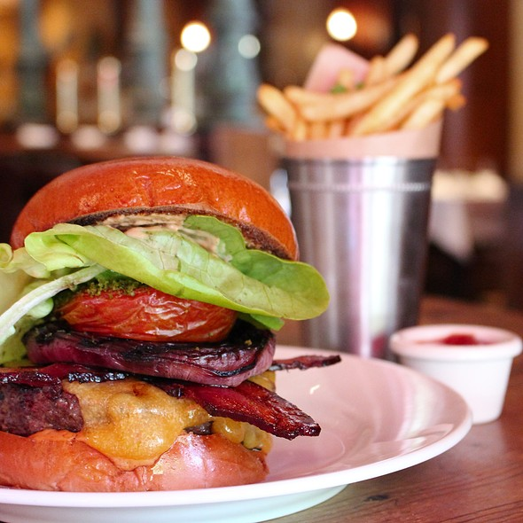 Bacon burger - Kendall's Brasserie, Los Angeles, CA