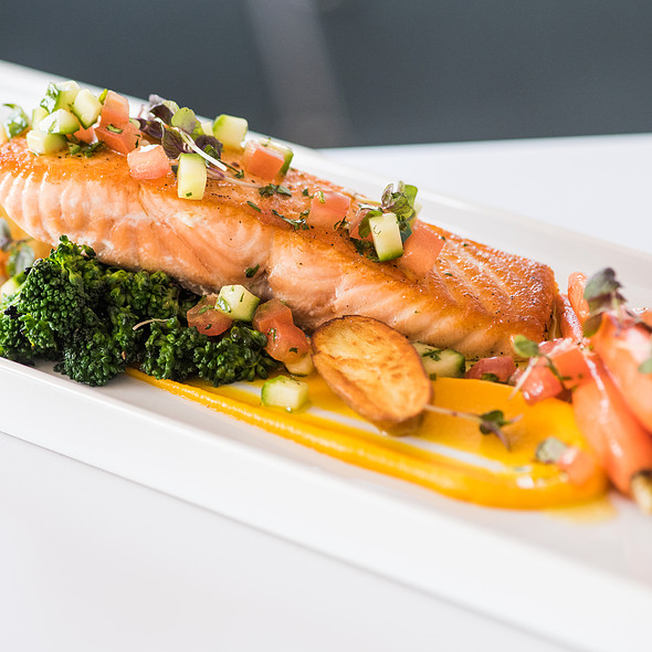 Seared Salmon - Tangata Restaurant, Santa Ana, CA
