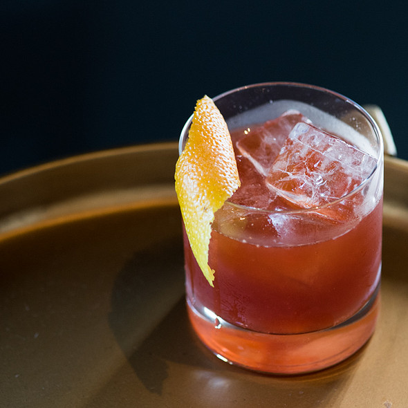 Strawberry Negroni - Nick & Stef's Steakhouse - Los Angeles, Los Angeles, CA