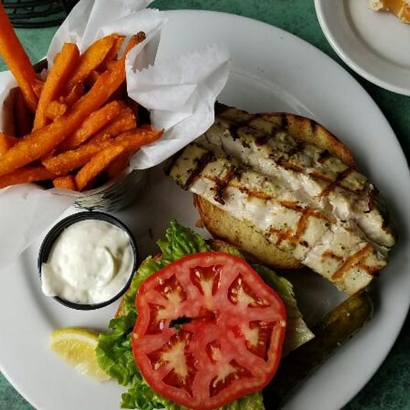 Grilled Mahi Mahi Sandwich - E.R. Bradley's Saloon, West Palm Beach, FL