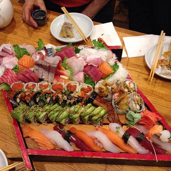 Assorted Sushi, Sashimi And Rolls  @ Yuraku Japanese Restaurant